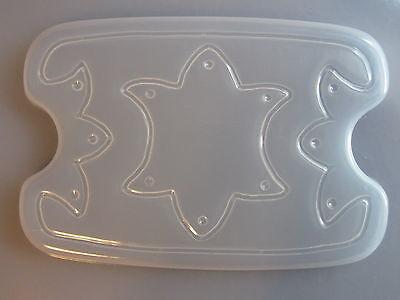 (Resin Mold Jewelry Box & Lid Set Star 6x4.5