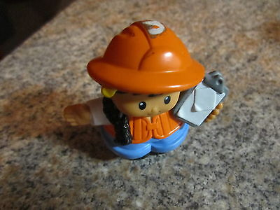 Fisher Price Little People construction worker village lady girl mom clipboard  - Village People Construction Worker