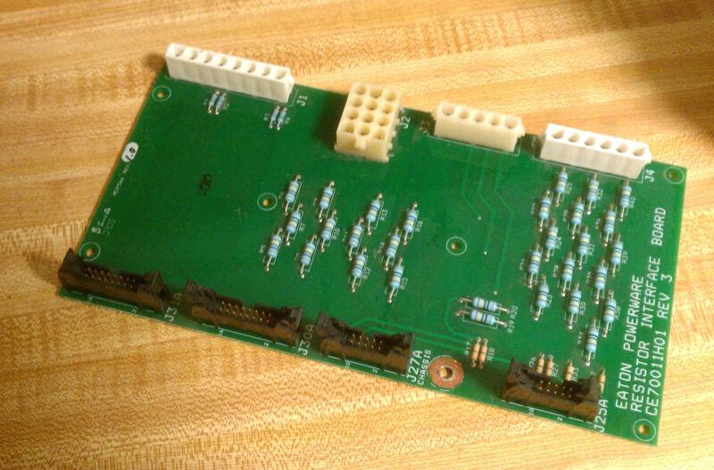 EATON POWERWARE RESISTOR INTERFACE CIRCUIT BOARD CARD CE70011H01 REV 3