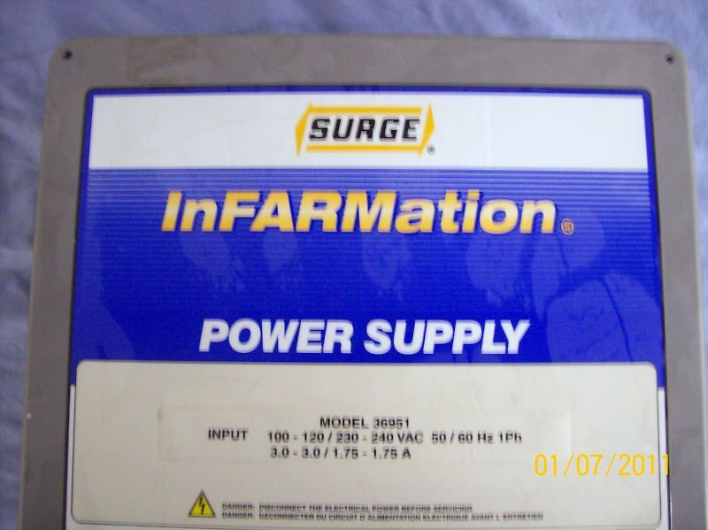 Surge Dairy Infarmation Power Supply 36951