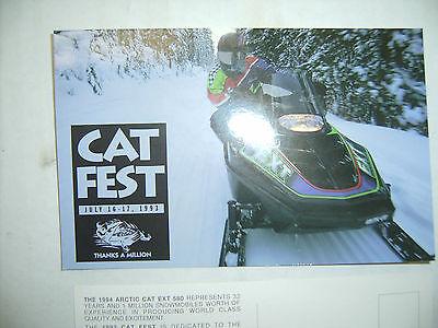 Vintage Arctic Cat Cat-Fest 1993 collectible event postcard 2 pack no reserve