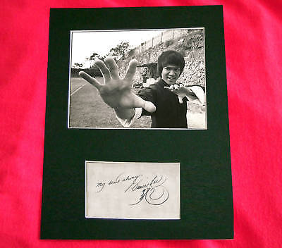 BRUCE LEE Signed Autograph Photo Mounted A4 PRINT 107