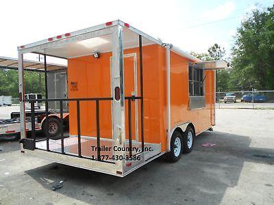 New 8.5x20 8.5 X 20 Enclosed Concession Food Vending Bbq Trailer
