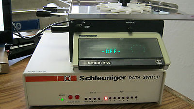 Mettler Pm100 Tablet Hardness Testing System W Schleuniger Data Switch W