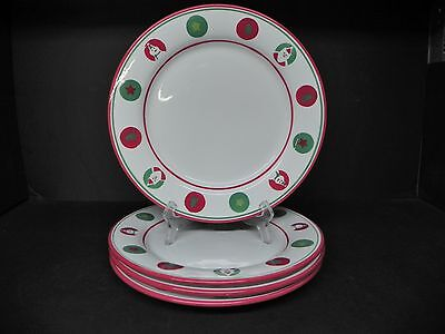 St. Nicholas Square Candy Greetings Dinner Plates (set of 4)  * Nicholas Square Candy