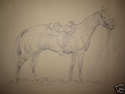 Used, VINTAGE ACE POWELL AMERICAN ARTIST COWBOY LARGE ARTWORK TAOS NM MT HORSE SADDLE  for sale  Oak Lawn