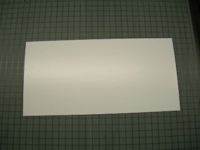 White Polystyrene Thermoforming Plastic Sheets .030 Thick 6 X 12