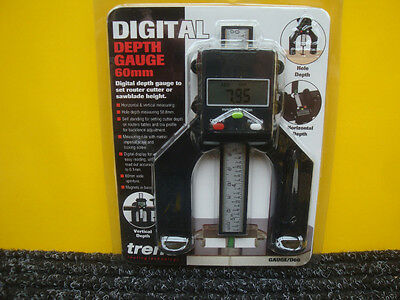 TREND 60MM ROUTER OR SAW BLADE DIGITAL DEPTH GAUGE GAUGE/D60
