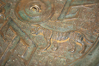 Chinese Bronze Mirror 4 T Shan, Warring States