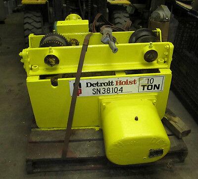 Detroit Hoist 10 Ton Capacity Type Phlp Pneumatic Underrunning Monorail Hoist