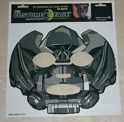 Transformer Iron Hide Temporary Face tattoo-costume-Halloween Mask-BumbleBee Avl](Ironhide Halloween Costumes)