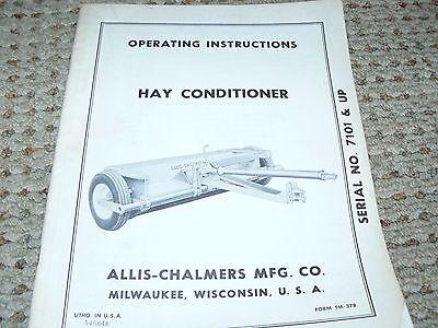 Allis Chalmers Hay Conditioner Operators Manual