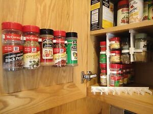 Perfect SpiceStor Organizer Rack 20 Cabinet Door Spice Clips FREE Shipping