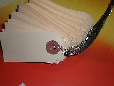 50 Manila Tags Size 1 With Wire Wired 1 38 By 2 34