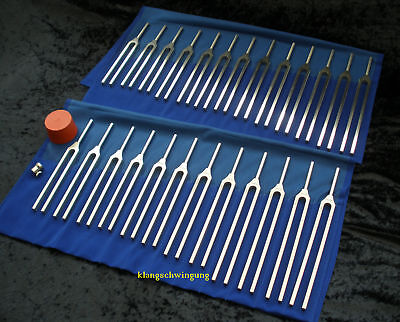 25 planetary steel tuning forks set - diapason - tuning fork made in Germany