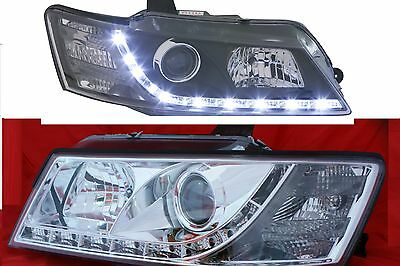 Holden Commodore All VZ Models LED DRL Like Chrome Clear Projector Headlights
