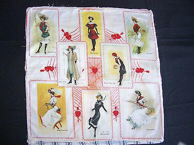 Rare 1912 S110 Hamilton King Athletic Girls Tobacco Premium Pillow Top