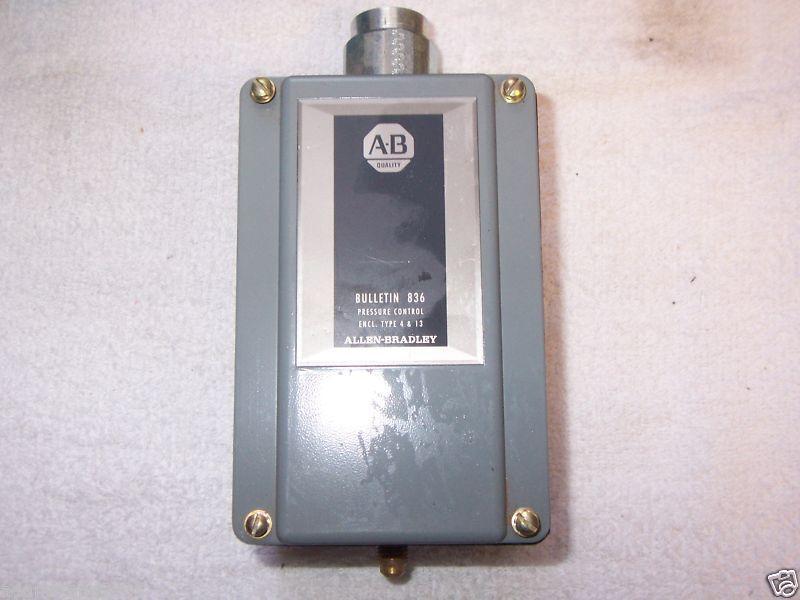 ALLEN BRADLEY BULLETIN 836 PRESSURE CONTROL