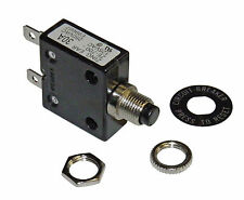 Push Button 30 Amp Circuit Breaker 12/24/50 VDC or 110/220 VAC Philmore B7030
