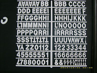 New White 1 Menu Message Board Letters Numbers Periodshyphenscommas Etc
