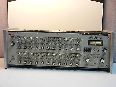 Ectron 4005y-m1036 Used Enclosure With 24 Differential Dc Amplifiers 4005ym1036