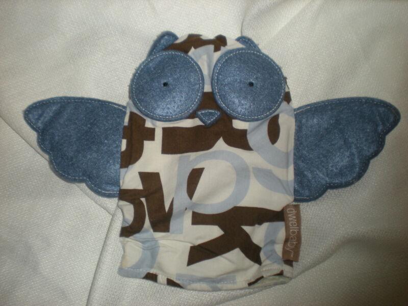 DWELL STUDIO OWL  PLUSH DWELBABY BABY BLUE BROWN HAND  PUPPET
