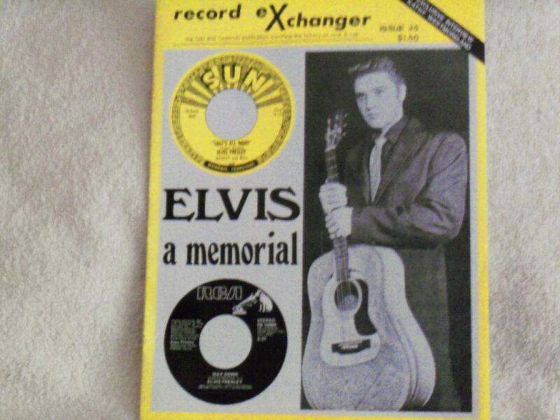 ELVIS PRESLEY-REC0RD eXCHANGER A  MEMORIAL*AUGUST 1977 MUSIC MEMORABILIA*.N.M
