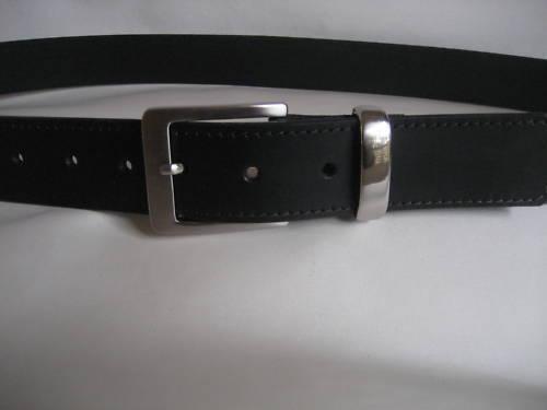 Mens Genuine Black Leather Belt