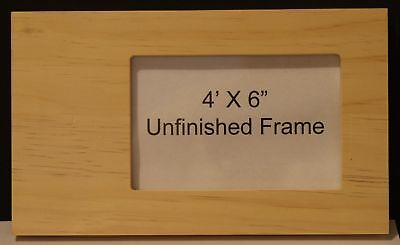 Unfinished Decorative Wood Frames (Handmade 4x6 unfinished wood picture frame w/ side to)