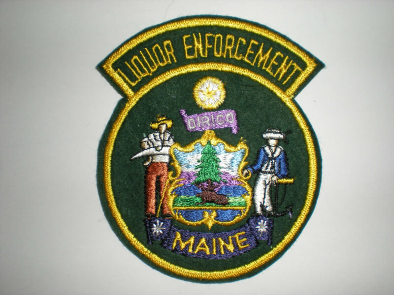 MAINE STATE LIQUOR ENFORCEMENT PATCH