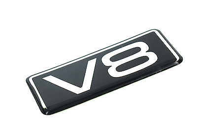Genuine New V8 BADGE would suit Vauxhall Holden Ford Land Rover Range Rover Audi