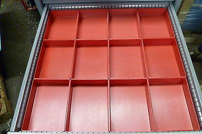 """12- 6""""x8""""x2""""  Plastic Boxes Bins fit Lista Vidmar toolbox organizer tray divider"""