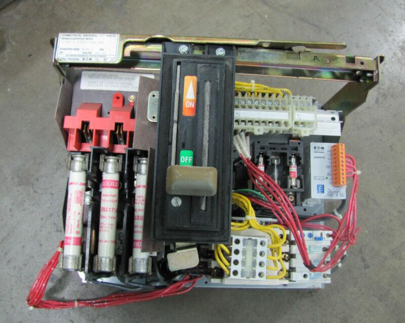CUTLER HAMMER EATON MCC BUCKET 10AF1598986 480V 30A 7.5HP SIZE 1 STARTER AN16DN0