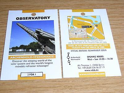 ARCHENHOLD-Sternwarte Berlin (Technikmuseum) - 2 Für 1 Gutscheincoupon Eintritt@