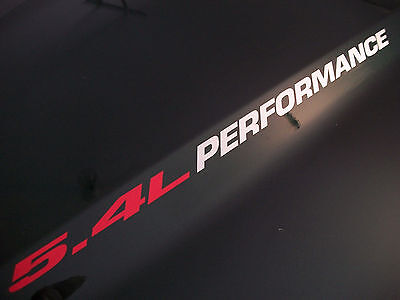 5.4L PERFORMANCE (pair) Hood sticker decals emblem Ford F150 F250 Expedition
