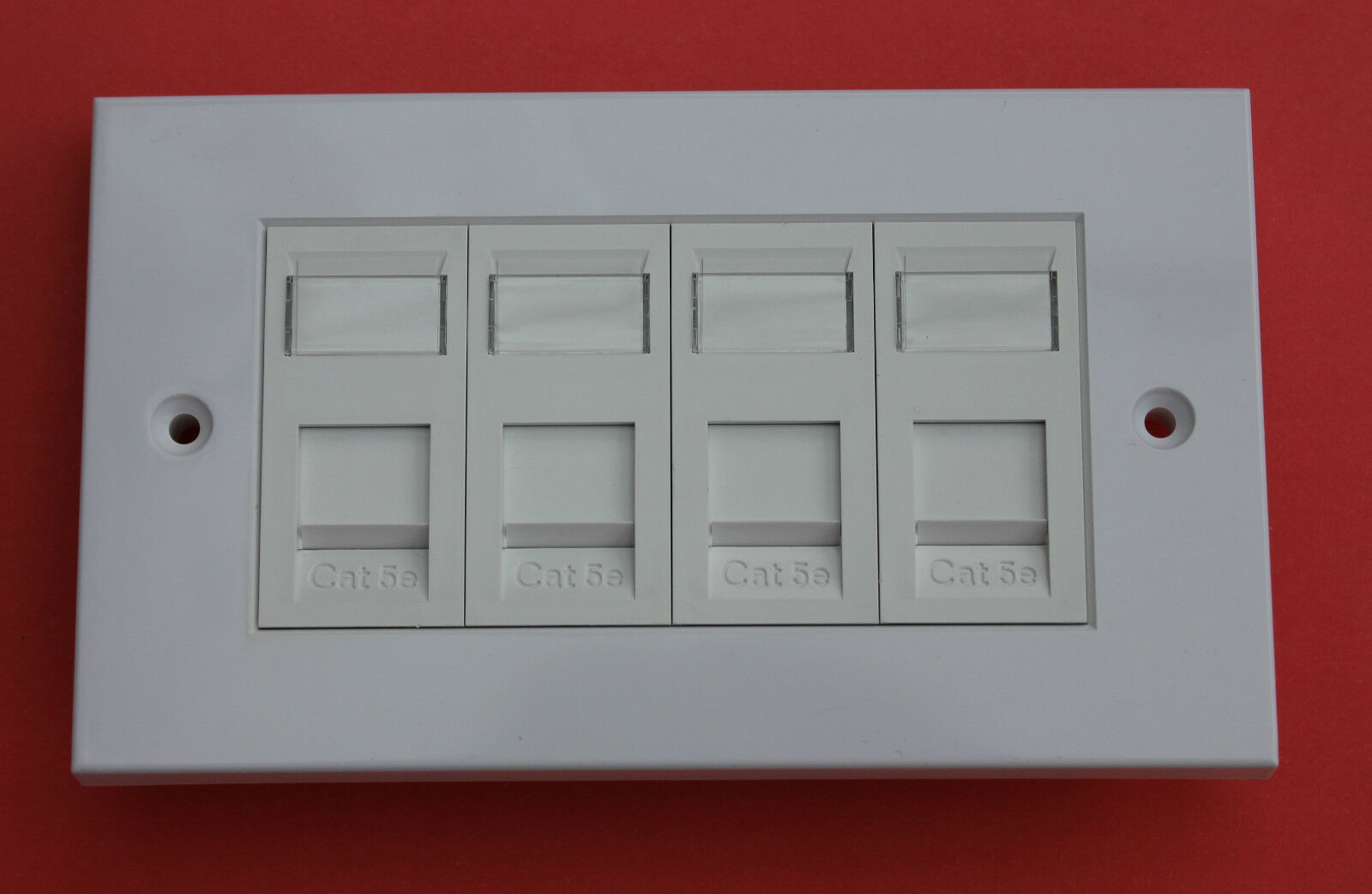 FUSION Euro-Style Fully Loaded 4 x RJ45 Cat5 Modules White with Screws