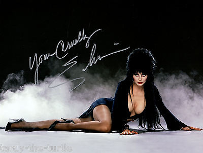 Elvira Mistress of the Dark #2   8 x 10 Autograph Reprint  Horror Movies