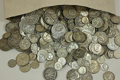 MAKE OFFER 4 Standard Ounces 90% Silver Junk Coins Half Dollars Quarters Dimes