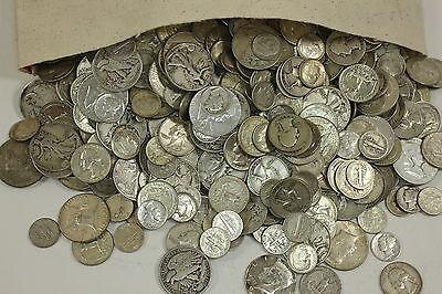 4 Standard Ounces 90% Silver Junk Coins Half Dollars Quarters Dimes NO NICKELS