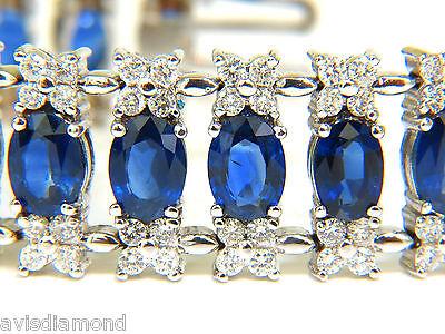 30000 Natural - █$30000 VIDEO 33.75CT NATURAL GEM SAPPHIRE DIAMOND BRACELET 3 ROW & WIDE CUFF█