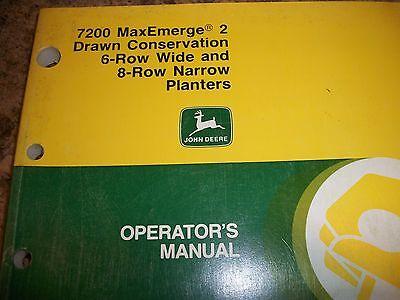 John Deere Operators Manual 7200 Maxemerge 2 Drawn Conservation 68 Row Planter