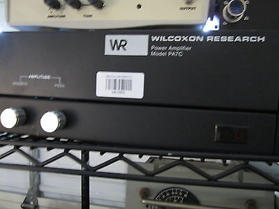 Wilcoxon Research Pa7c Power Amplifier Vibration Shaker Test Accelerometer