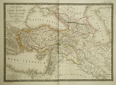 1822 Genuine Antique large map of Ancient Asia Minor. by A.H. Brue