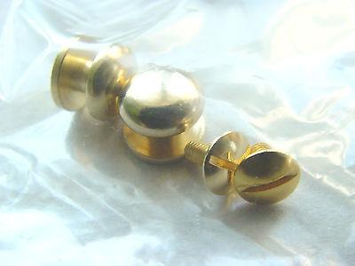 2 Stck. Knöpfe Griffköpfe goldfarben 1cm für kl.Schachteln, Schubladen