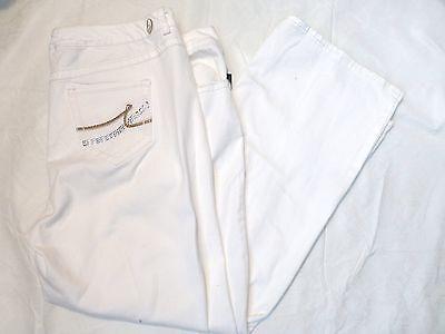 NWT WOMENS NINE WEST SANTA MONICA MID RISE BOOTCUT JEANS WHITE $75 60147824-I15 ()