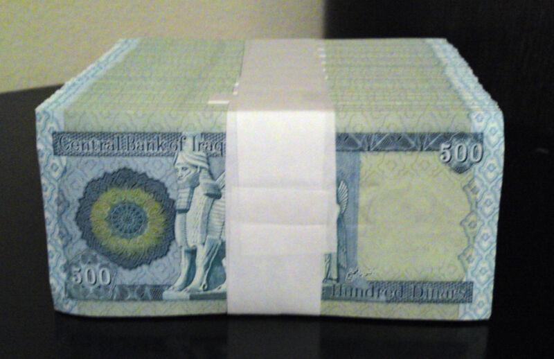 Iraq Dinar 5,000 Lot Of 10 X 500 Dinar Notes Uncirculated Wholesale Resale
