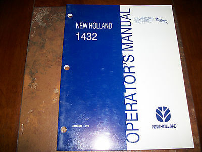 New Holland 1432 Discbine Disc Mower-conditioner Operators Manual