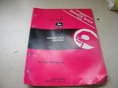 John Deere 65 Rear Blade Operators Manual