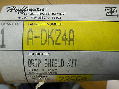 Hoffman A-dk24a Drip Shield Kit For 24 Enclosure New Condition In Box