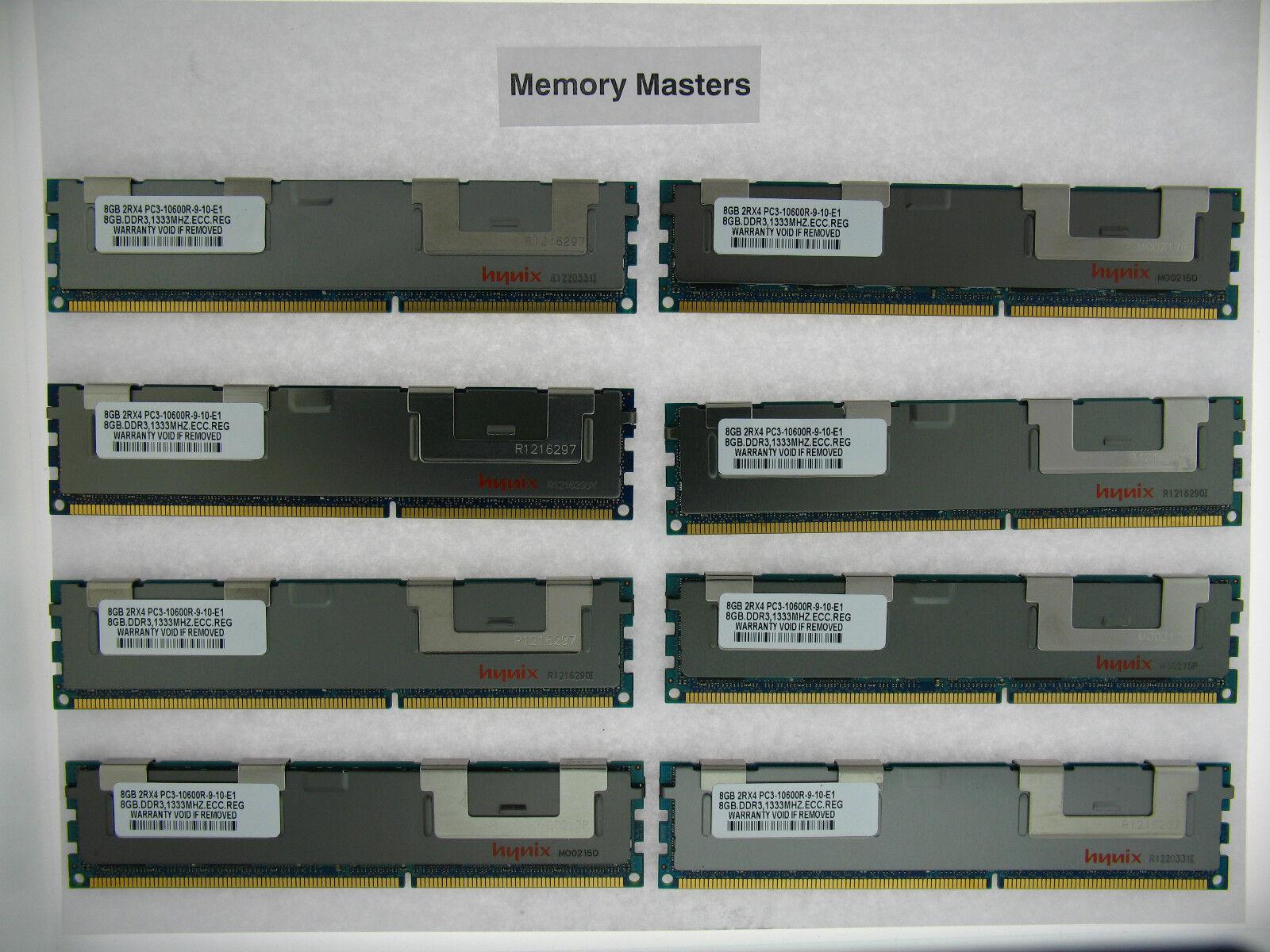 64GB 8x8GB DDR3 PC3L-10600R ECC Reg Server Memory RAM Dell PowerEdge M610